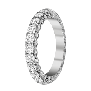 Jack Kelége platinum diamond wedding band ring - KPR769