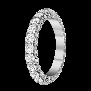 Jack Kelége platinum diamond wedding band ring - KPR769