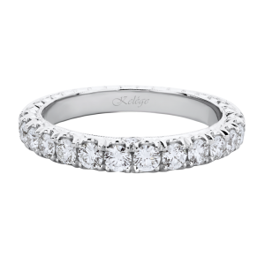 Jack Kelége diamond wedding band set in platinum - KPBD809-1