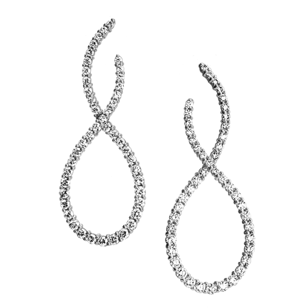 Jack Kelége diamond drop earrings - KGE107