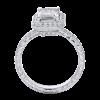 Jack Kelége emerald cut diamond engagement ring in platinum - KPR439EC