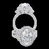 Jack Kelége oval diamond engagement ring - KGR1066OV