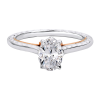 Jack Kelége oval diamond engagement ring with rose gold accent - KGR1155