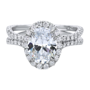 Jack Kelége oval diamond halo engagement ring - KGR1216