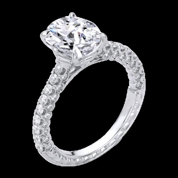 Jack Kelége oval cut diamond engagement ring - KGR1224OV