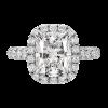 Jack Kelége platinum diamond halo engagement ring - KPR672