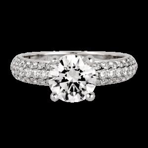 Jack Kelége platinum diamond engagement ring - KGR323
