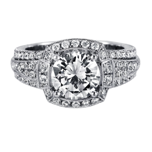 Jack Kelége platinum diamond engagement ring - KPR534