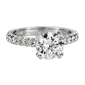 Jack Kelége platinum diamond engagement ring - KPR549