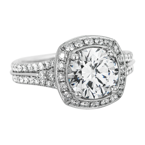 Jack Kelége platinum & diamond engagement ring KPR621