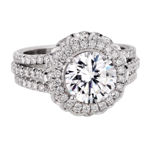 Jack Kelége platinum diamond engagement ring - KPR627