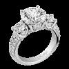 Jack Kelége platinum diamond three-stone engagement ring- KPR631