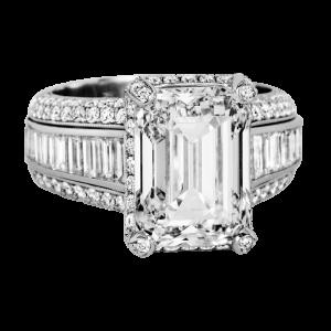 Jack Kelége platinum diamond engagement ring - KPR675