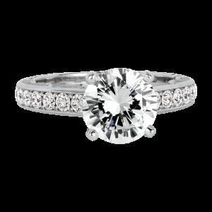Jack Kelége platinum diamond engagement ring - KPR712