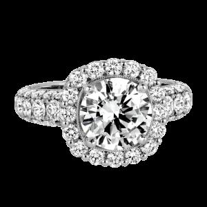 Jack Kelége platinum diamond halo engagement ring - KPR718