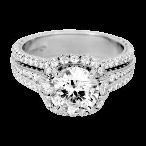 Jack Kelége platinum diamond engagement ring - KPR745