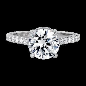 Jack Kelége platinum hidden halo diamond engagement ring - KPR755