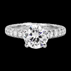 Jack Kelége platinum diamond engagement ring KPR759