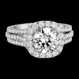 Jack Kelége platinum diamond halo engagement ring - KPR765