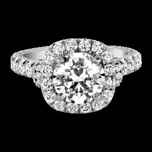 Jack Kelége platinum diamond halo engagement ring - KPR766