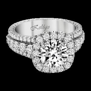 Jack Kelége platinum diamond halo engagement ring - KPR780