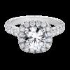 Jack Kelége platinum diamond halo engagement ring KPR649