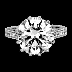 Jack Kelége platinum diamond solitaire engagement ring - KPR724
