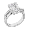 Jack Kelége emerald-cut diamond engagement ring KPR705