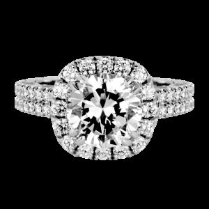 Jack Kelége platinum diamond engagement ring - KPR715