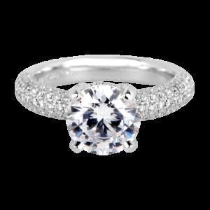 Jack Kelége platinum diamond engagement ring - KGR799