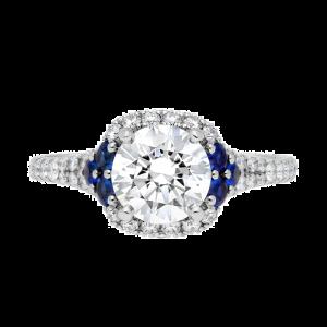 Jack Kelége platinum diamond & sapphire engagement ring KPR743