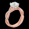 Jack Kelége twisted shank rose gold diamond engagement ring KGR1078