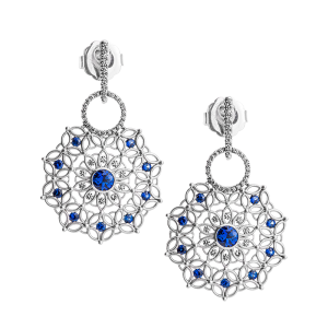 Jack Kelége sapphire & diamond drop earrings - KGE180S