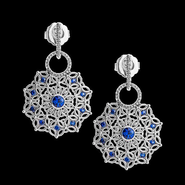 Jack Kelége sapphire & diamond drop earrings - KGE180S