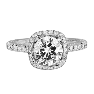 Jack Kelége white gold diamond halo engagement ring KGR1036