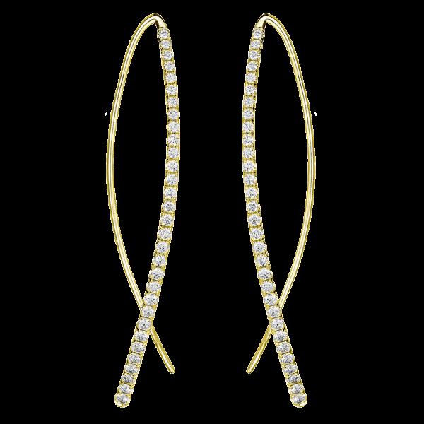 Jack Kelége diamond threader earrings - KGE147Y