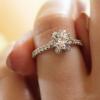 Jack Kelége diamond flower engagement ring - KGR1068