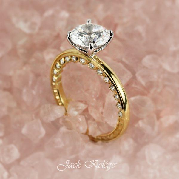 Jack Kelége diamond solitaire engagement ring - KGR1777Y
