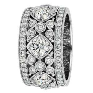 Jack Kelége Women's Diamond Wedding Band / Ring - KPBD738