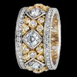 Platinum diamond band - KPBD739