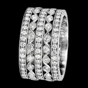 Jack Kelége Women's Diamond Wedding Band / Ring - KPBD740