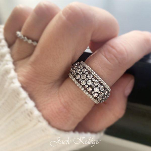 Jack Kelége diamond rhodium ring - KPBD772