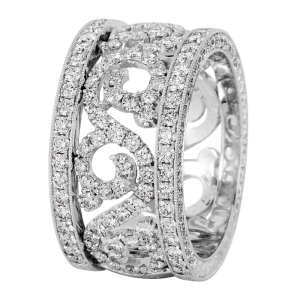 Jack Kelége Women's Diamond Wedding Band / Ring - KPBD784