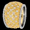Jack Kelége 18k yellow gold diamond band - KGBD155