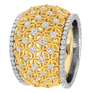 Jack Kelége 18k yellow gold diamond band - KGBD155