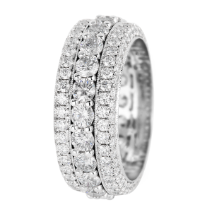 Jack Kelége diamond wedding band ring in platinum - KPBD796