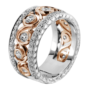 Jack Kelége rose gold diamond band - KGBD100-2
