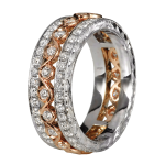 KGBD126 18k White / 14k Rose gold diamond eternity band