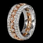 KGBD126 18k White / 14k Rose gold diamond eternity band