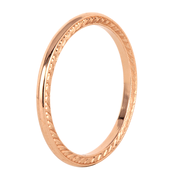 Jack Kelége Women's 18k Rose Gold Wedding Ring / Band